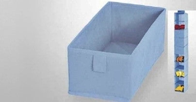 Open Storage Boxes in Blue Colour (4 Pieces)