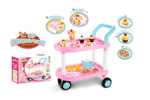 Children's Cart with Pastries, Ice Cream and Accessories (43 Pieces)