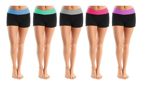 4-Pack of Women's Shorts for Running, Fitness and Gym