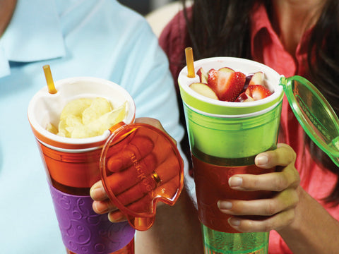 Snackeez (2 Pieces), 2-in-1 Snack and Drink Cup in Colour of Choice (Video)