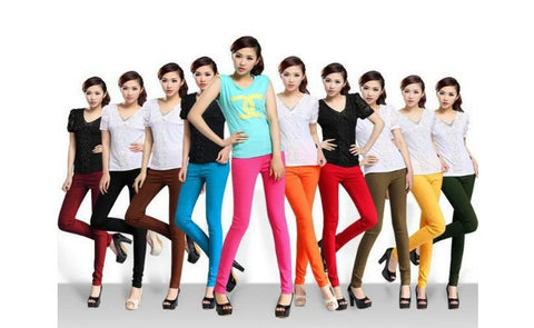 Women's High-Waisted Leggings in Choice of Colour