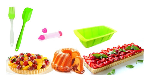 Set of Silicone Kitchen Accessories for Making Pastries