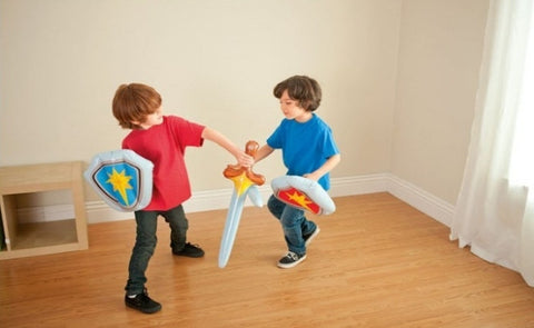 Children's Knight's Set - Inflatable Sword and Shield in Choice of Colour