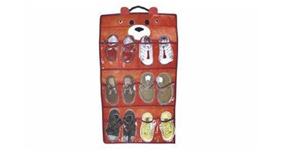 Children's Shoe Organizer with Teddy Bear Design