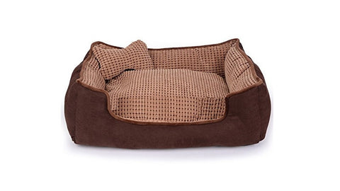 Brown Sofa with Pillow for Pets