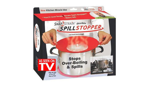 Spill Stopper - Universal Silicone Lid that Prevents Boiling (Video)