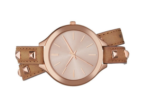 Inspired by Michael Kors - Leather Watch with Rivets