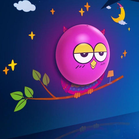 Light-Up Owl - LED Night Light for Children's Room