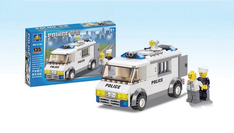 Toy Bricks for Making Police Vehicle (135 Pieces)