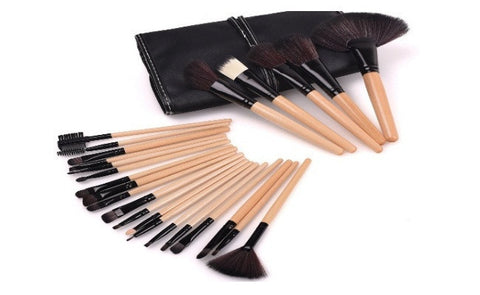 24-Piece Makeup-Brush Set in Black Colour
