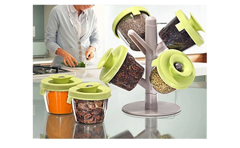 Pop Up Spice Rack with Vacuum Lids (Video)