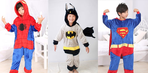 Superhero Jumpsuit - Spiderman, Batman or Superman
