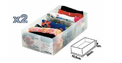 Set of 4 Plastic Drawers
