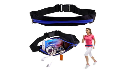 Sports Running Belt with a Pocket for Smartphone, MP3 Player, Keys, Documents