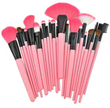 24-Piece Makeup-Brush Set in Pink Colour