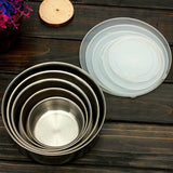 Set of 5 Metal Bowls with Lids
