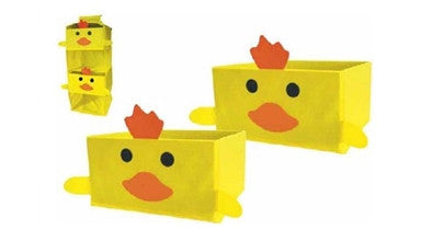Children's Hanging Organizer and 2 Boxes with Chicks Motive