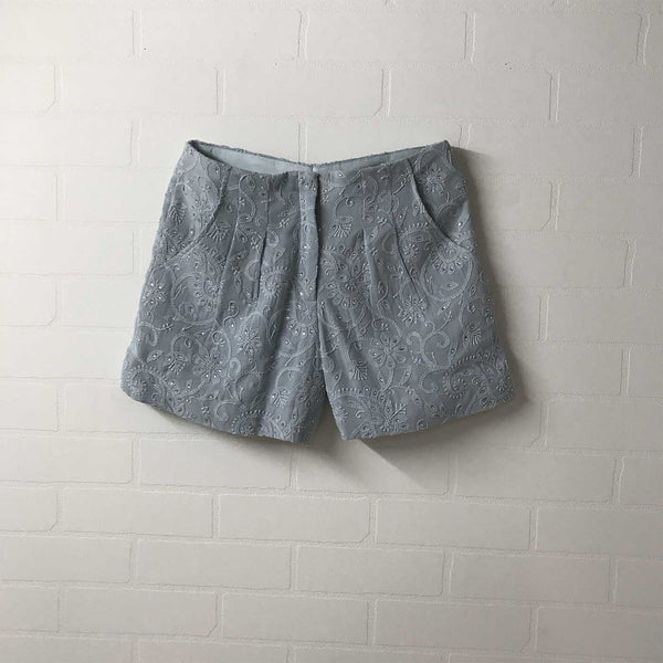 Powder blue Chikan shorts