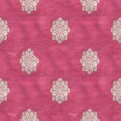 Benarasi motifs on pink silk fabric