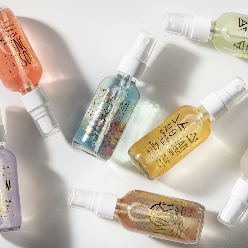 little shop of oils gemstone infused mists