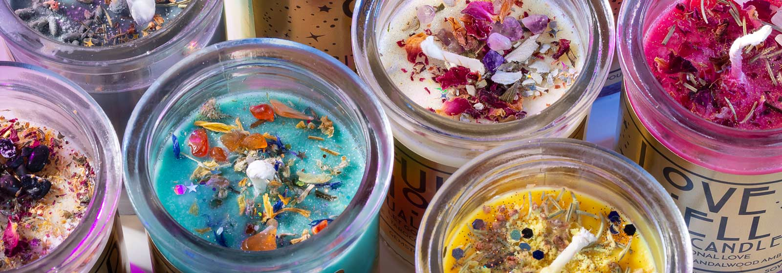 little shop of oils gemstone infused ritual candles