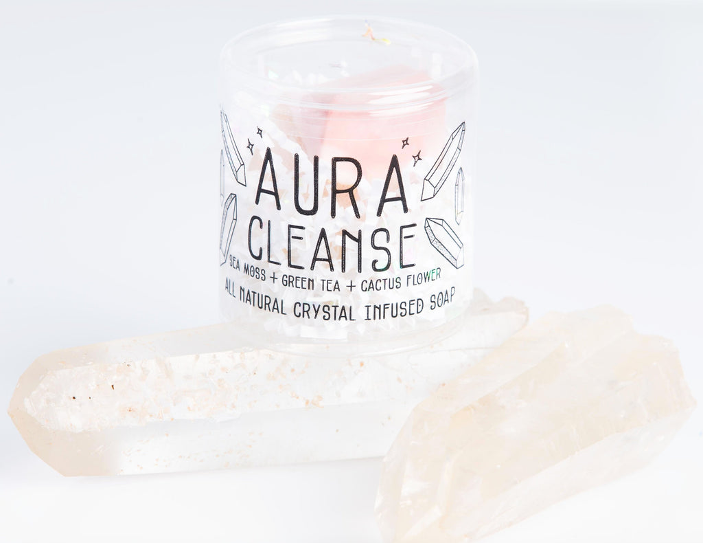 AURA CLEANSE SOAP - Little Shop of Oils Essential Oils Crystal Gemstone Infused Apothecary