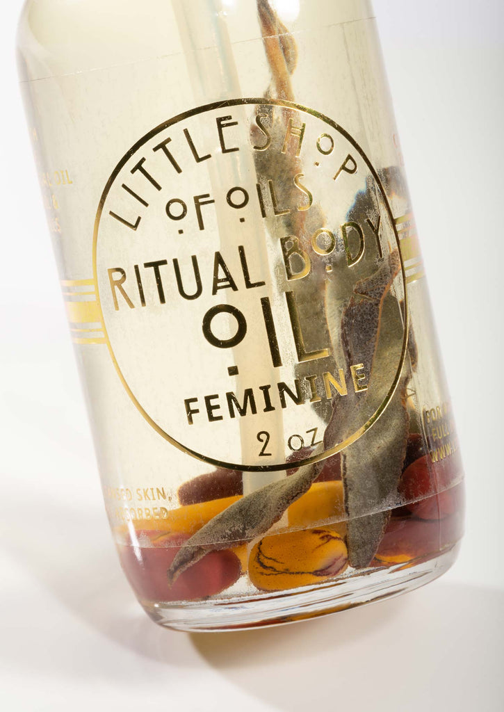 Feminine Energy Body Oil - Little Shop of Oils Essential Oils Crystal Gemstone Infused Apothecary