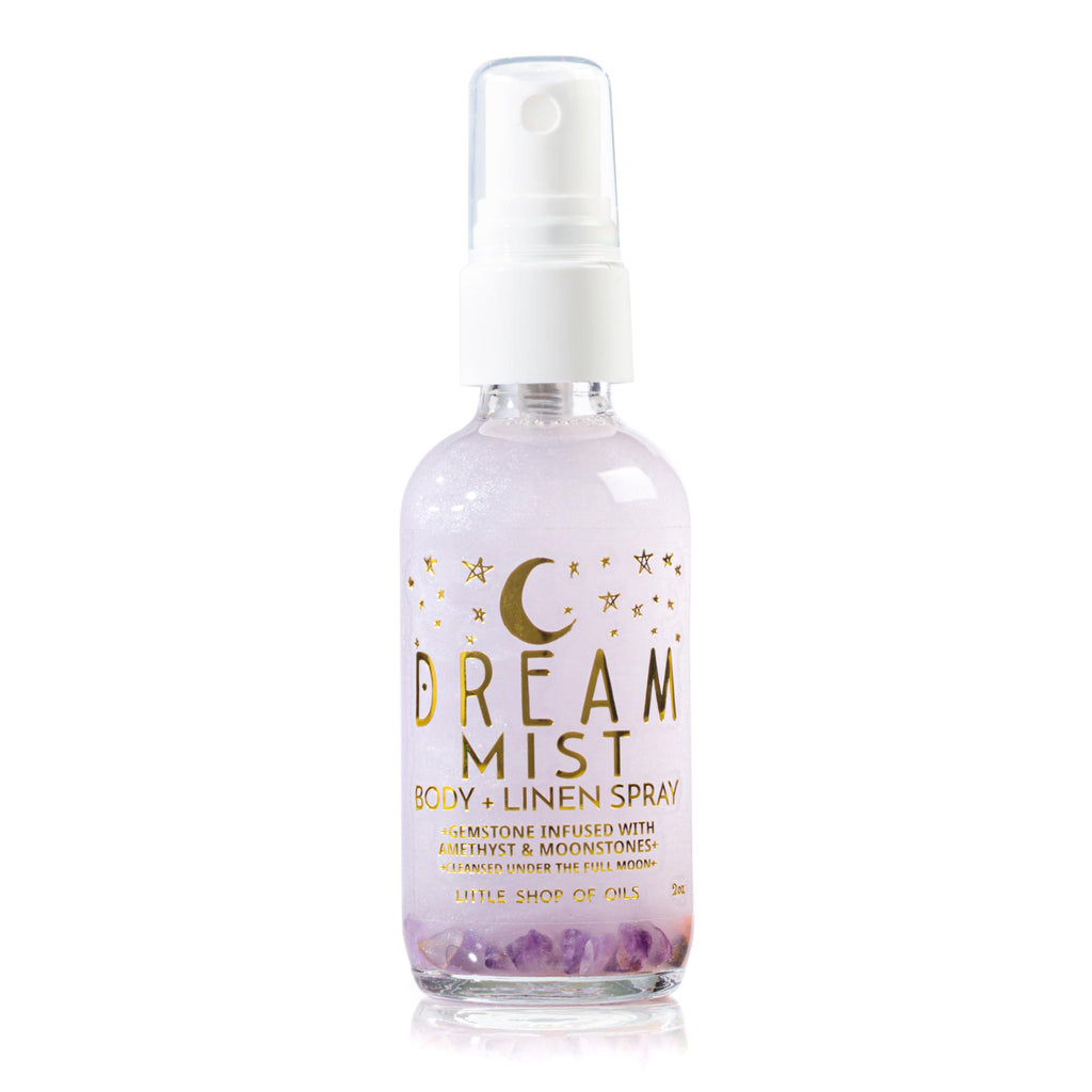 Dream Mist / Body + Linen - Little Shop of Oils Essential Oils Crystal Gemstone Infused Apothecary