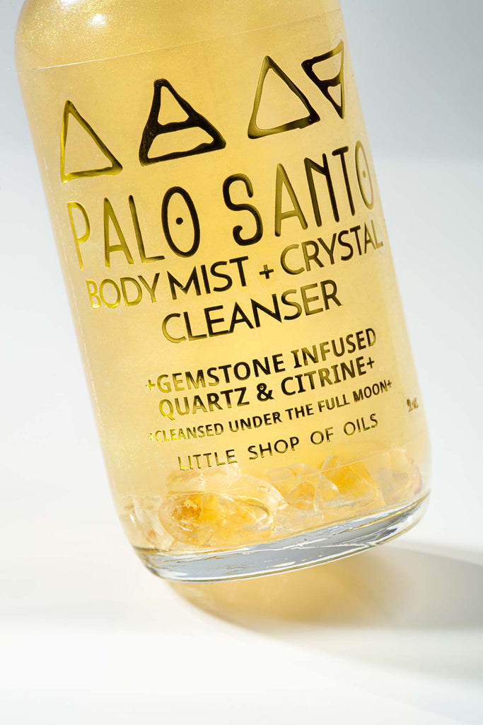 Palo Santo Mist / Body + Crystal Cleanser - Little Shop of Oils Essential Oils Crystal Gemstone Infused Apothecary