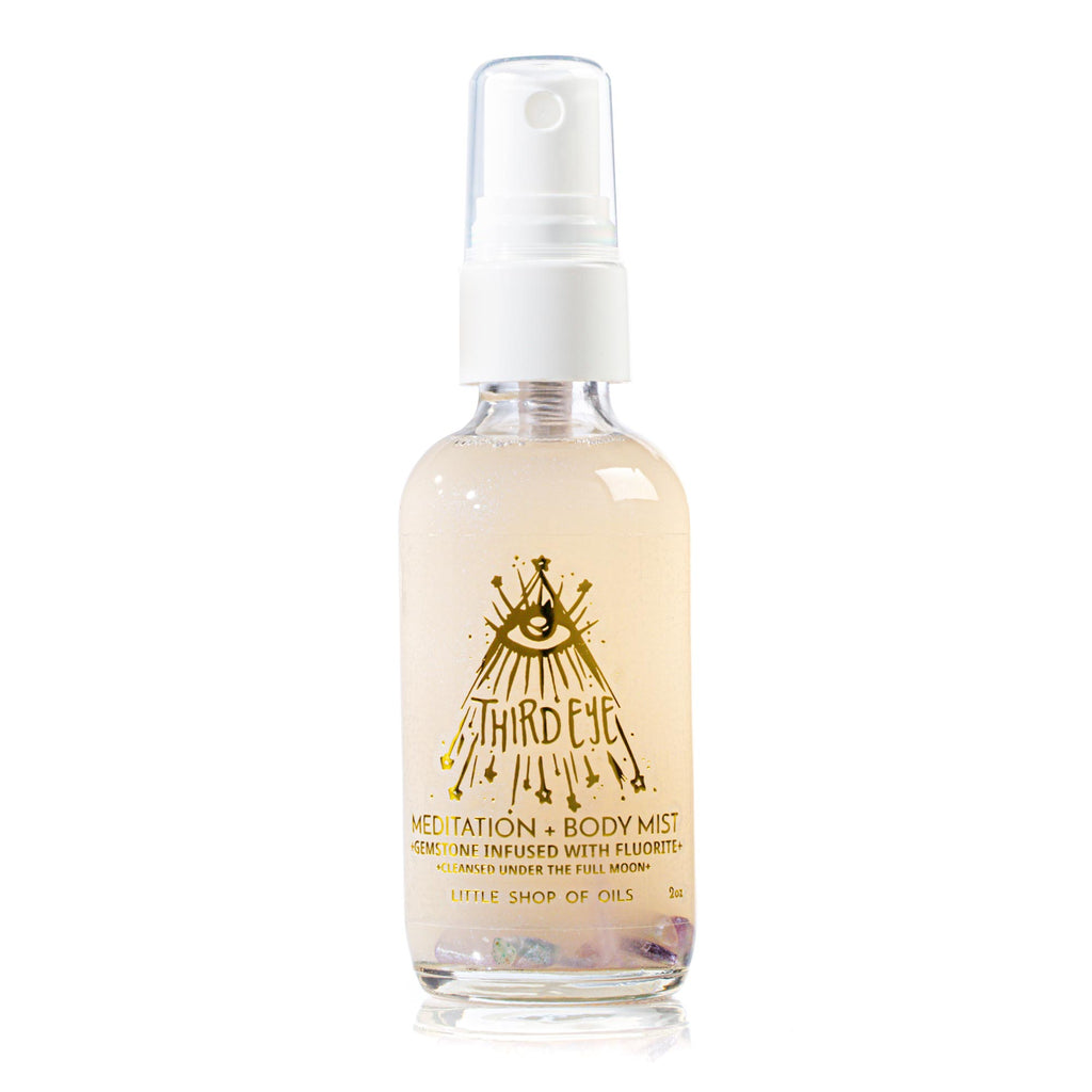 Third Eye Mist / Body + Meditation - Little Shop of Oils Essential Oils Crystal Gemstone Infused Apothecary