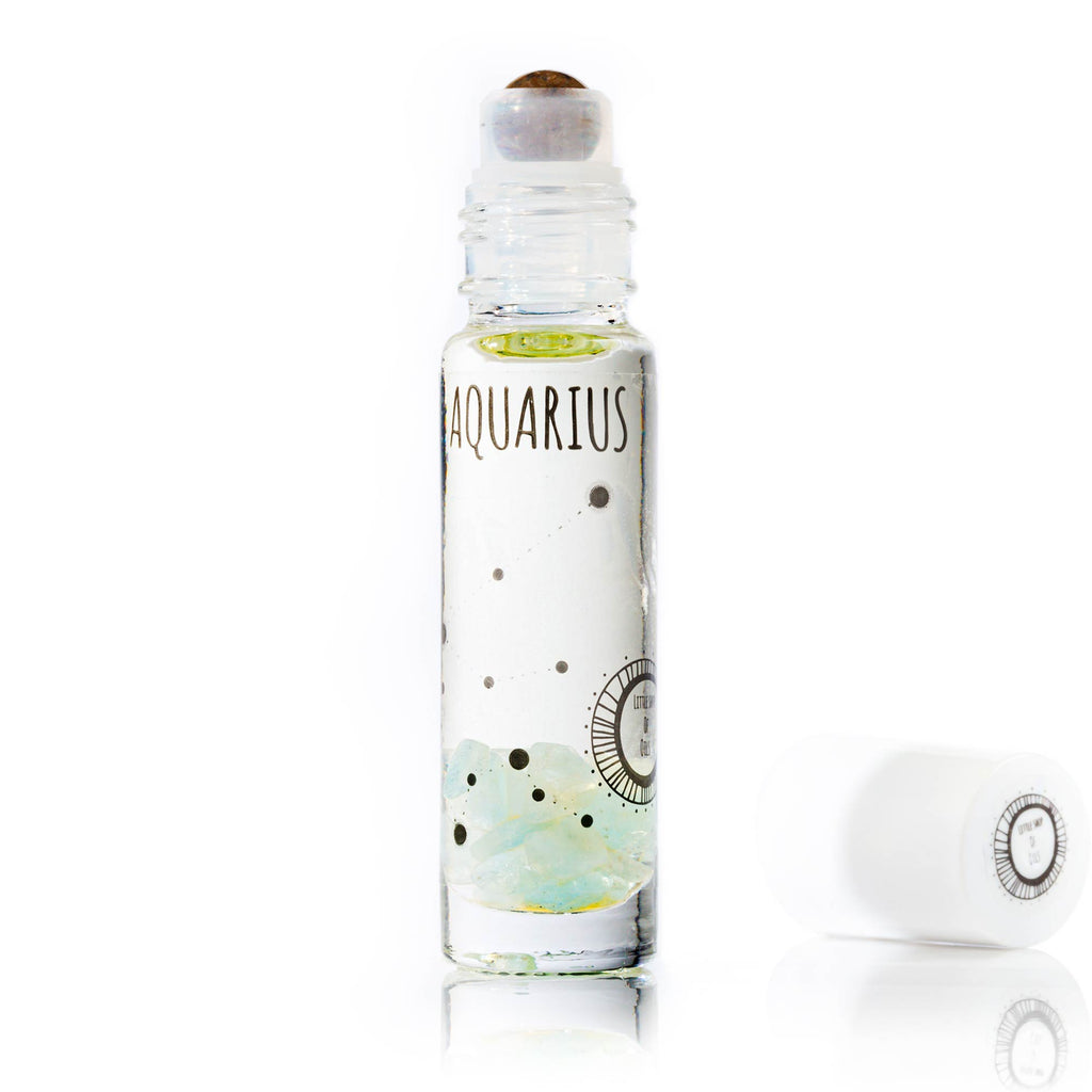 Aquarius Roller - Little Shop of Oils Essential Oils Crystal Gemstone Infused Apothecary
