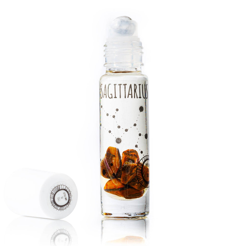 Sagittarius Roller - Little Shop of Oils Essential Oils Crystal Gemstone Infused Apothecary