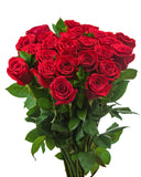 Romance (24 Red rose hand-tied bouquet) - BloomsyShop.com