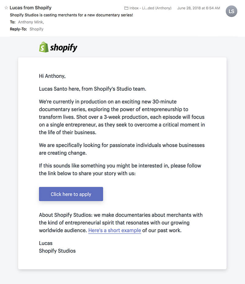 shopify studios email