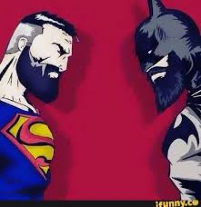 Bearded Batman or Superman