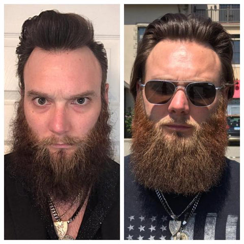 Kevin's before and after beard