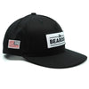Black Cotton Snapback