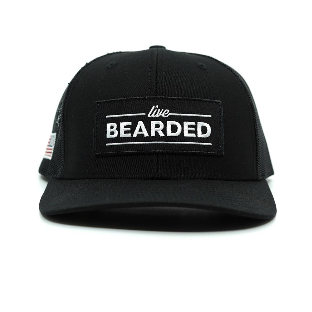 Black Trucker Hat with Black Patch