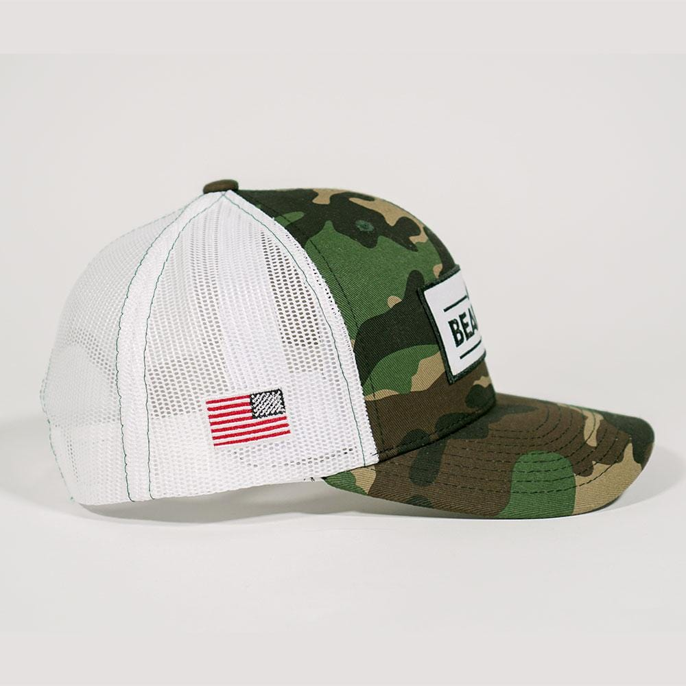 Camo Trucker Hat with White Mesh Back