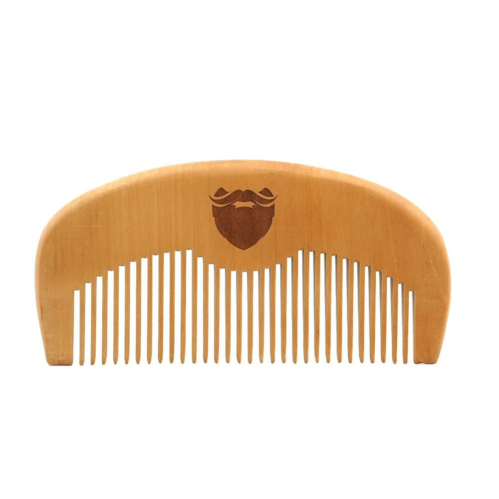 Beard Comb - Natural Wood