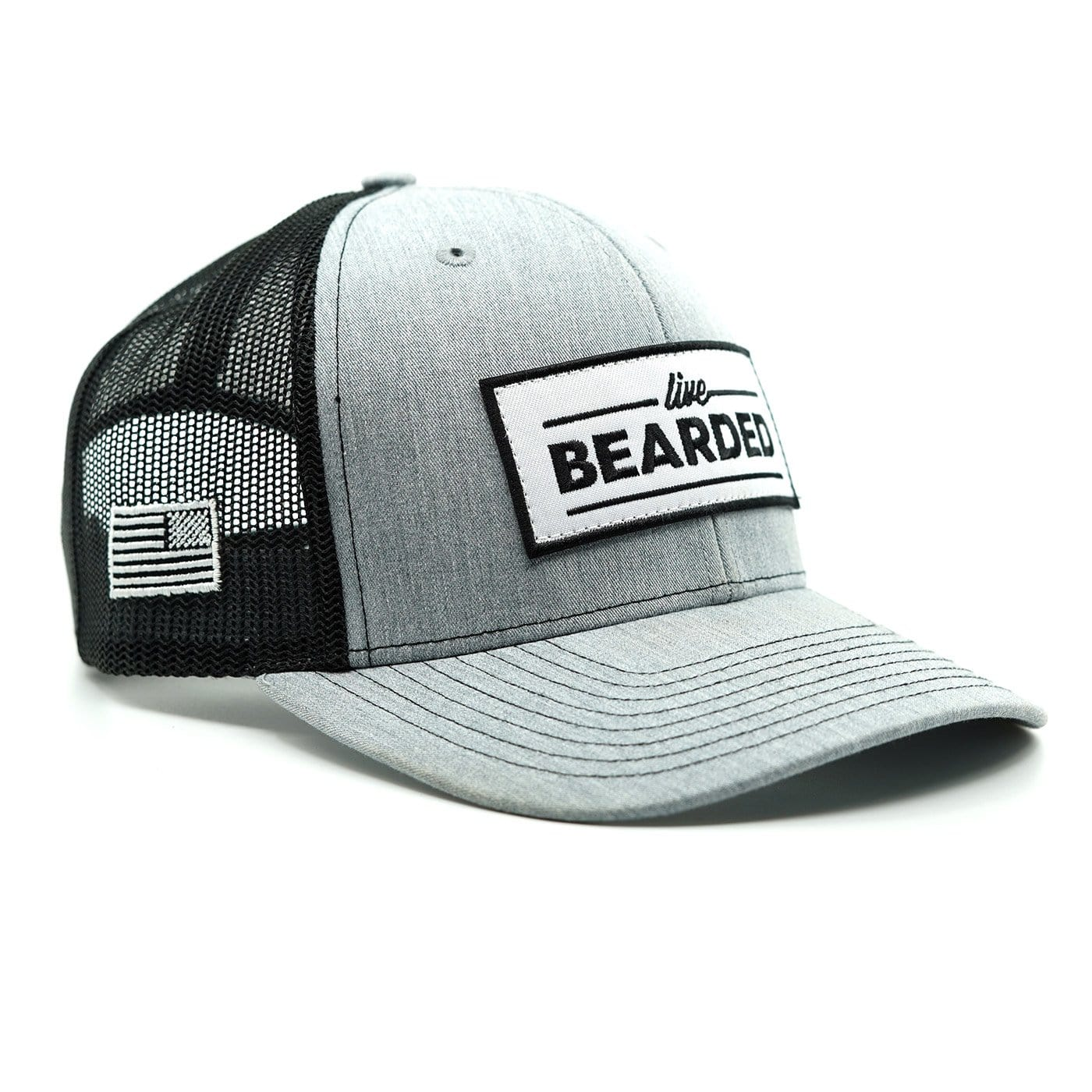 Heather Grey with White Patch Trucker Hat