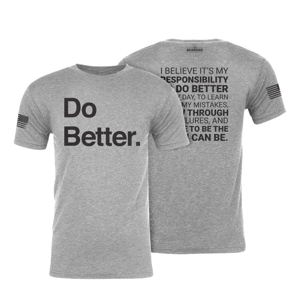 Do Better Tee - Heather Grey