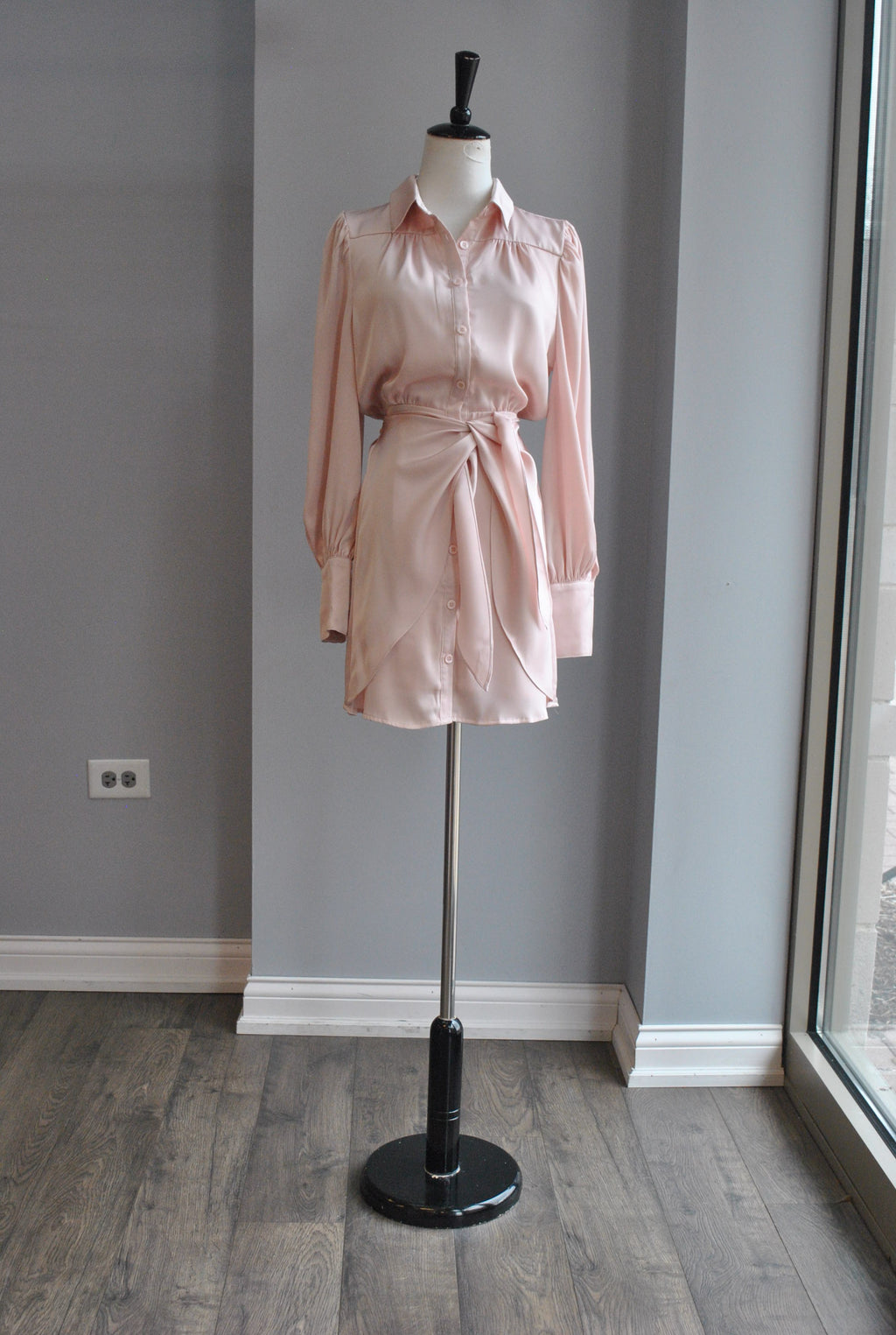 BLACK TWEED CLASSIC COAT WITH GOLD BUTTONS