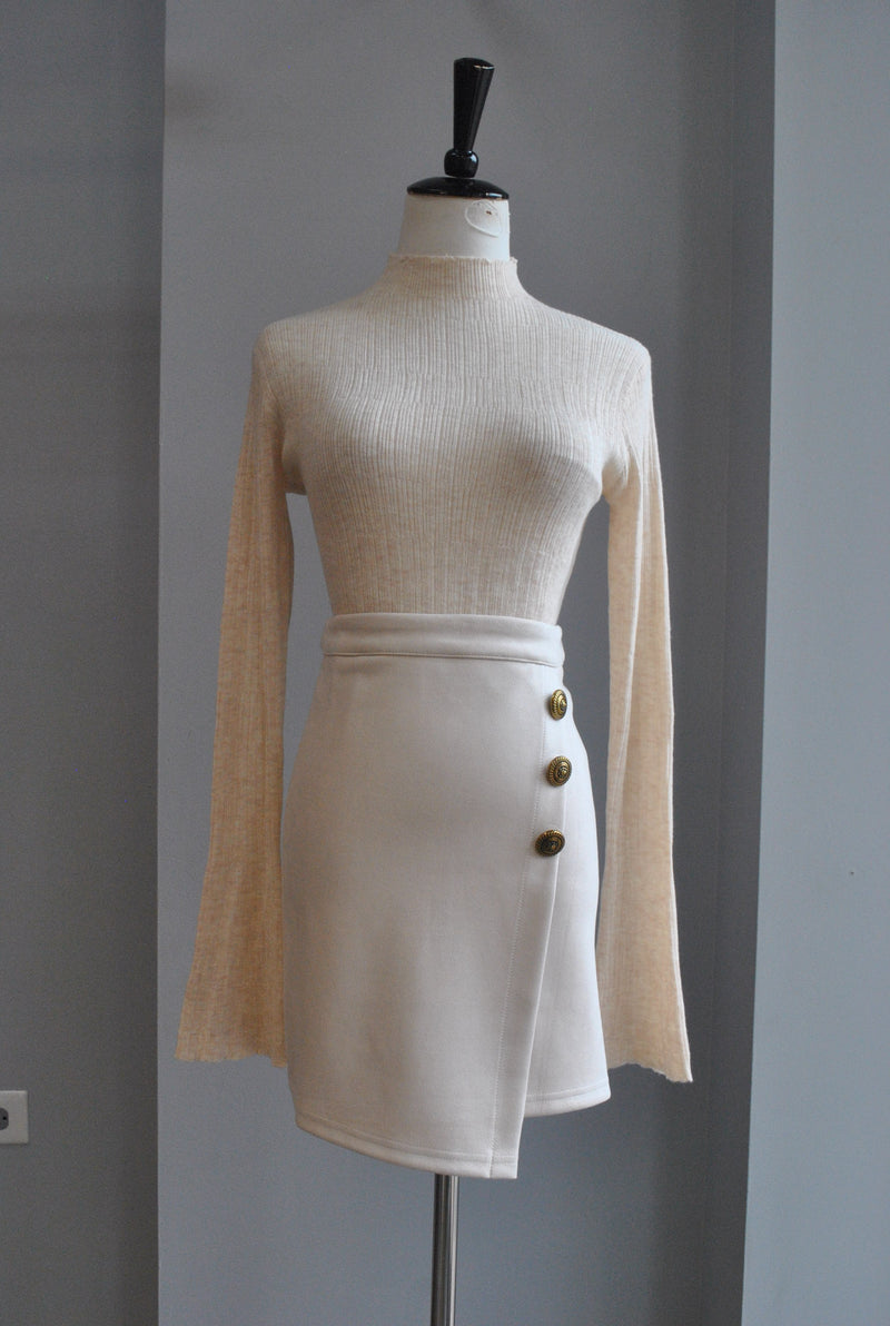 BLUE CAMOUFLAGE ULTRA THIN SWEATER TOP