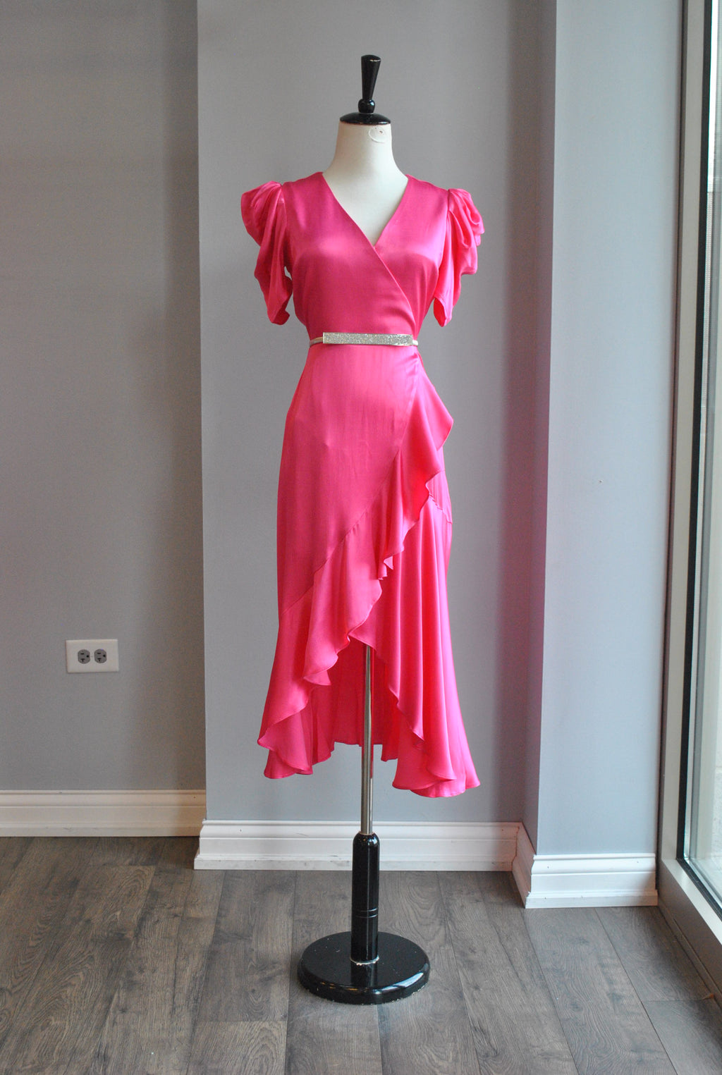 CARAMEL RUFFLE MINI SKIRT