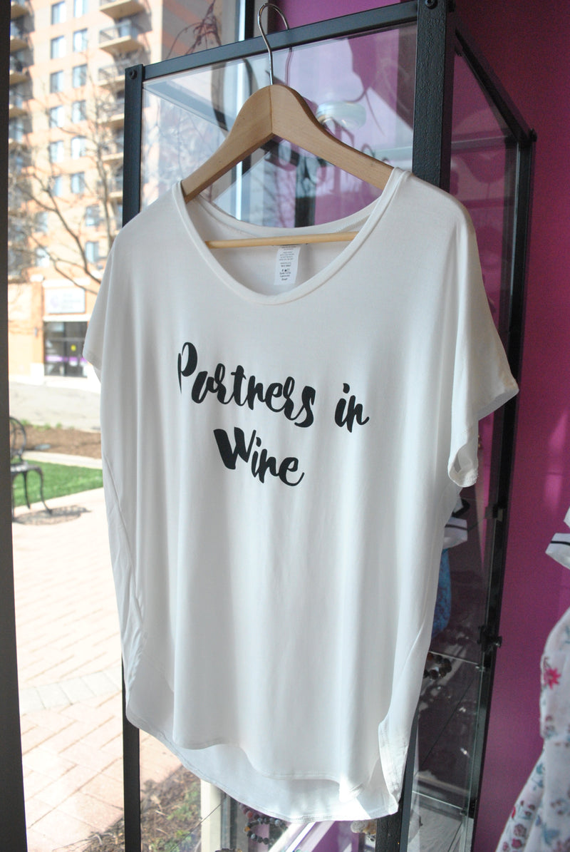 "T-SHIRT - ""PARTNERS IN WINE"" - WHITE"