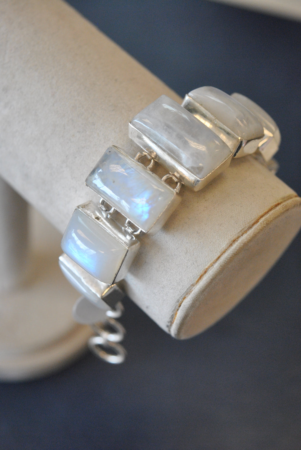 SLVER COLLECTION - MOONSTONE STATEMENT BRACELETS