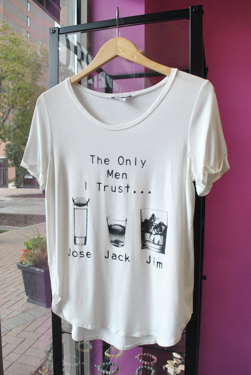"T-SHIRT - ""THE ONLY MAN I TRUST"" WHITE"