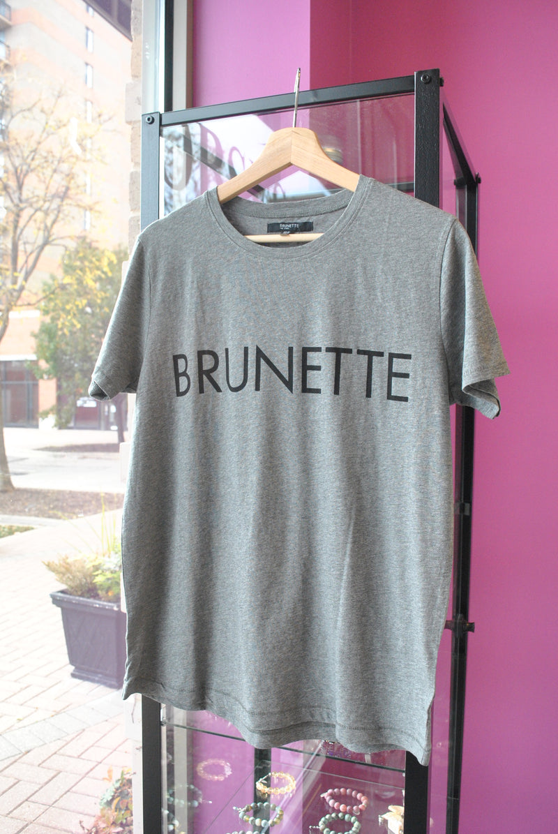 T-SHIRT BRUNETTE GREY