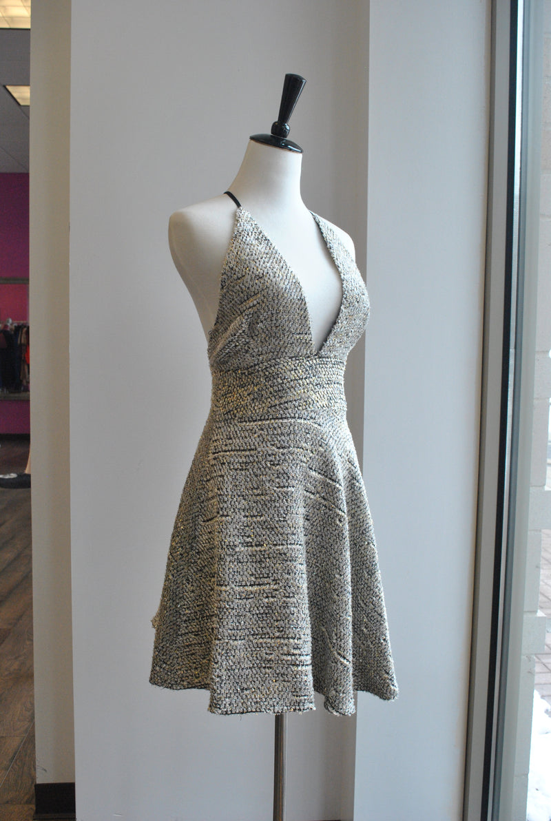 GOLD TWEED DRESS